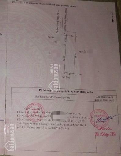 Bán 64m2 đất BDCC giá 450 triệu, Đồng Hòa, Kiến An, Hải Phòng