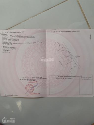 Bán nền thổ cư trục chính hẻm đường Lê Hồng Nhi, P. Lê Bình, Q. Cái Răng