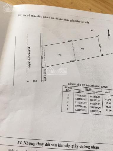 Bán đất thổ cư mặt tiền đường Gót Chàng, 15x41,5m ảnh 0