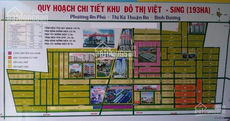 Bán đất KDC Việt Sing Vsip 1 giá 1,7 tỷ lô 100m2, đất TT TP Thuận An, gần ST Aeon. 0984.046.022 ảnh 0