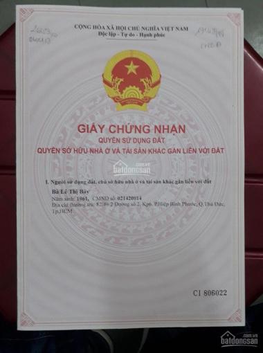 Bán đất Chính chủ Đường 2, Hiệp Bình Phước, Thủ Đức. LH 0968204489