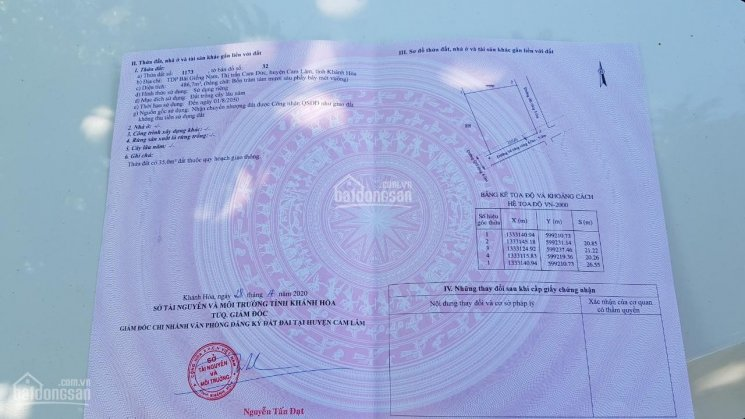 Lô góc 2 mặt tiền tại trung tâm huyện Cam Lâm ảnh 0
