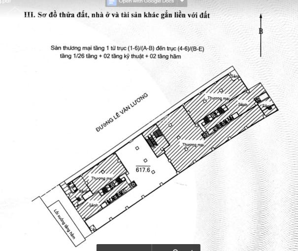 Chính chủ cho thuê sàn thương mại tầng 1, tòa nhà Times Tower, 35 Lê Văn Lương, Thanh Xuân, HN