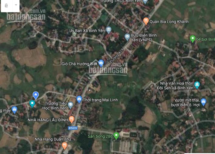 Chủ ĐT mở bán các lô đất tại Hòa Lạc, Bình Yên, Thạch Thất, sổ đỏ bao sang tên từ 600 triệu