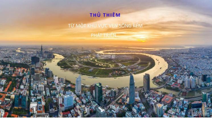Mở bán căn hộ ngay cầu Thủ Thiêm 1 - The River Thủ Thiêm, Q2, LH ngay 0903642586