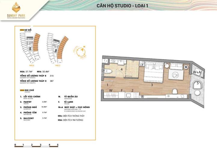 Chính chủ bán căn hộ du lịch Sunbay Park - Phan Rang, full nội thất 5 sao, CĐT cam kết lợi nhuận ảnh 0