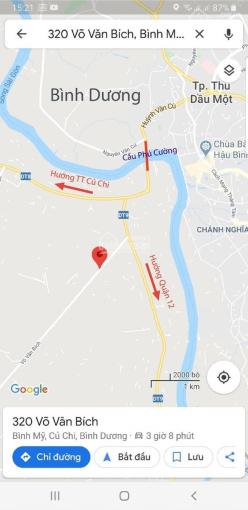 Đất mặt tiền Võ Văn Bích, Củ Chi, gần Thủ Dầu Một, Bình Dương, lô 134x189m và 50x204m. Giá 5tr/m2