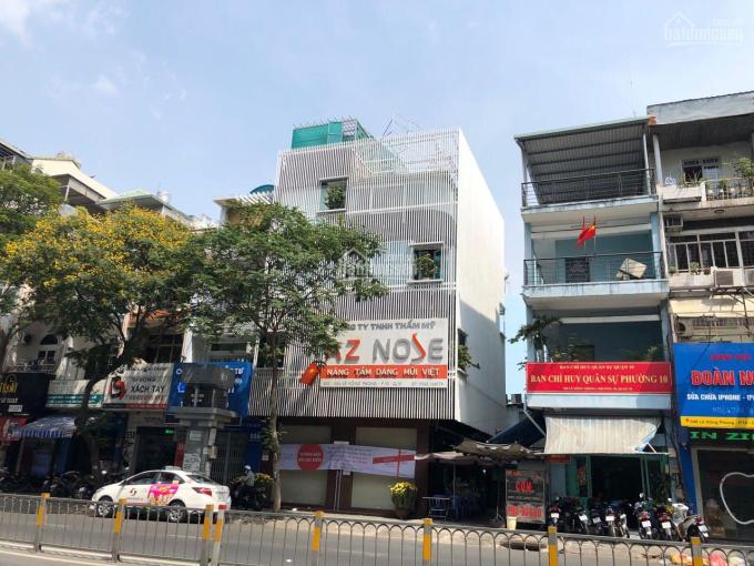 Cho thuê nhà góc 2 mặt tiền Lê Hồng Phong, Q10, gần vòng xoay, 8,5x10m, 1 trệt, 4 lầu, cầu thang