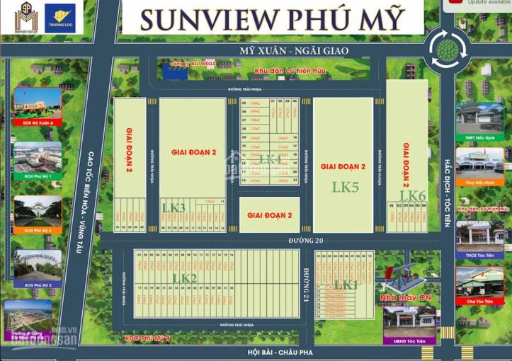 Đất nền Sunview Phú Mỹ - đã có sổ riêng từng nền. giá cực kỳ hấp dẫn