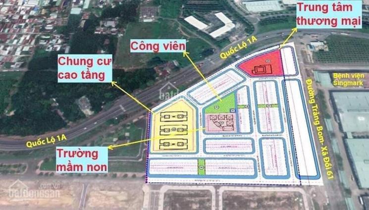 Đất mặt tiền QL 1A - đối diện KCN Bàu Xéo. Giá gốc CĐT chiết khấu 1-2 cây vàng+22%/năm