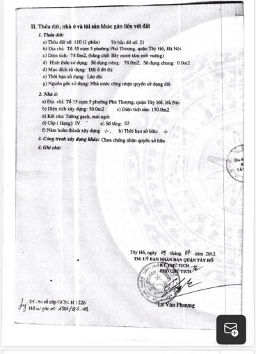 Bán nhà mặt đường Phú Thượng, phường Phú Thượng, quận Tây Hồ, Hà Nội