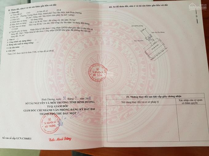 Nhà 1 trệt 2 lầu MT Lê Văn Tách cách chợ mới Tương Bình Hiệp 20m, giá 3tỷ 350tr đã có sổ hồng riêng ảnh 0