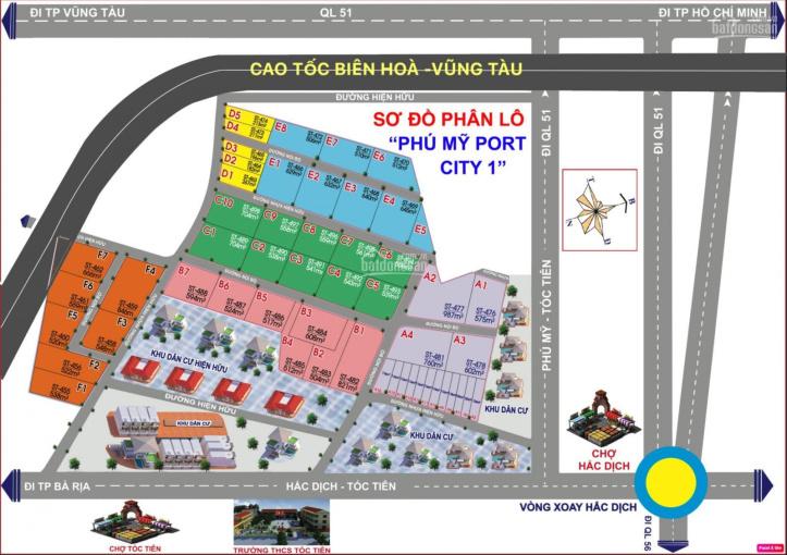Chỉ từ 690tr/ 512m2 có ngay lô đất tại đường 81, đang mở rộng từ 15m lên 30m, gần Coopmart Phú Mỹ