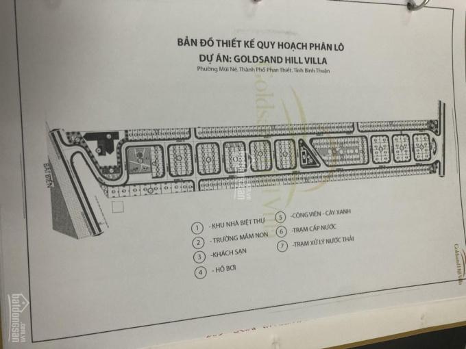 Lô duy nhất view biển dự án Goldsand Hill với giá tốt nhất tại Phan Thiết