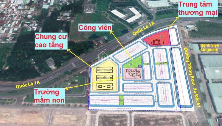 Bán đất mặt tiền Quốc lộ 1A KCN Bàu Xéo, Trảng Bom, Đồng Nai đối diện Cty ShingMark. LH 0911891081