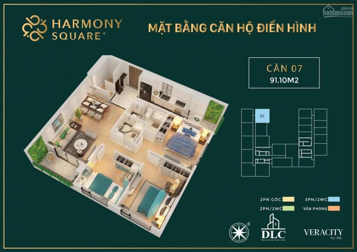 Tổng hợp các căn 2PN giá tốt nhất Harmony Square (DLC Complex) CK 3%, QT 30tr. LS 0% trong 12 tháng ảnh 0