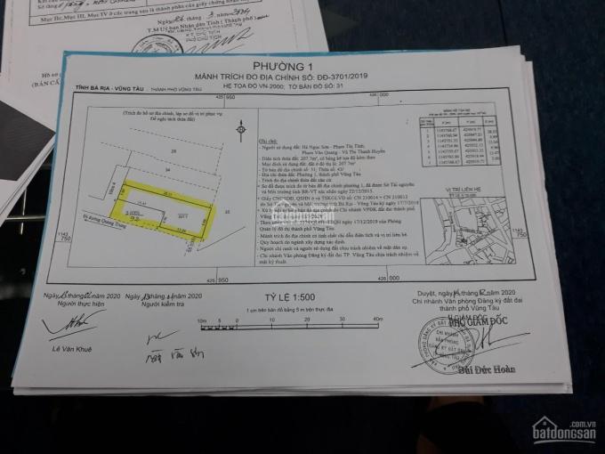Chính chủ cần bán lô đất thổ cư ngay bãi trước, đường Quang Trung, P1, Tp. Vũng Tàu. 0937077175