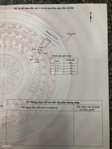 Kẹt tiền bán đất lô đất rẻ hơn giá thị trường trong kdc Lợi Bình Nhơn, 0888888620 ảnh 0
