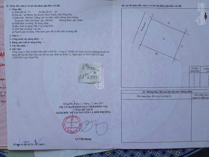 Đất nền sổ đỏ dự án HUD - XDHN - Thành Hưng, 300m2 giá cực rẻ, kẹt tiền bán gấp, LH: 0934339034 ảnh 0
