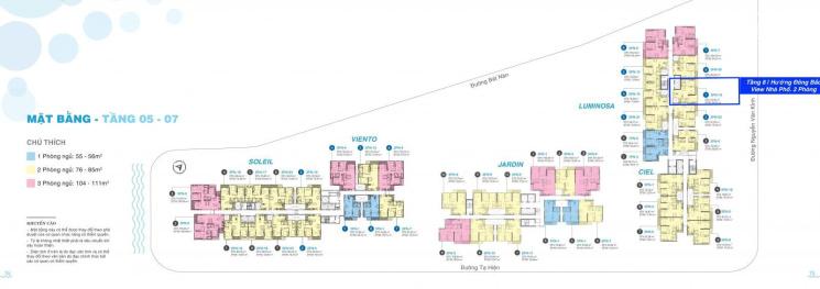 Quận 2 One Verandah, căn hộ tháp Luminosa 2 phòng tầng 8 Đông Bắc mát rượi, vào ở ngay, mới 100%