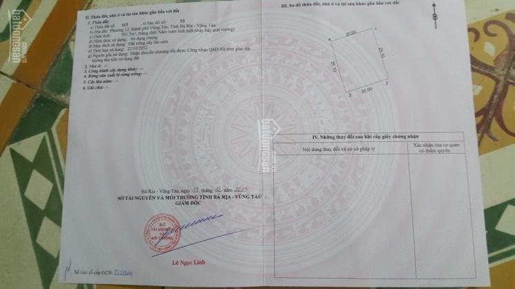 Chính chủ cần bán lô đất ngay phường 12, Tp.Vũng Tàu, Liên hệ: 0936004242