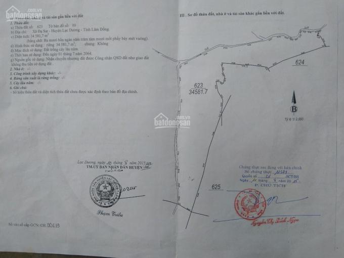 Chính chủ cần bán 15ha đất ở Đạ Sar, Lạc Dương, giáp Thọ Xuân Đà Lạt, sát khu QH của Đại Quang Minh ảnh 0