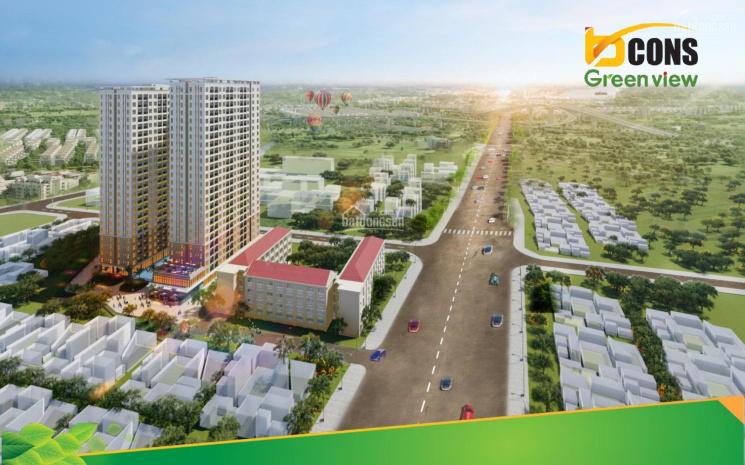 Bcons Green View đối diện BigC Dĩ An, đi thẳng QL1K - đại lộ Phạm Văn Đồng về sân bay chỉ 30 phút