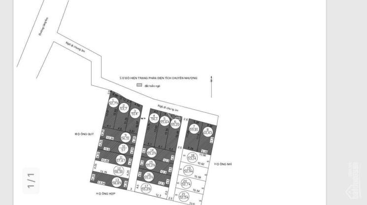 Bán 56.5m2 đất tại thôn 1, Tràng Duệ, xã Lê Lợi, huyện An Dương. Giá 350tr