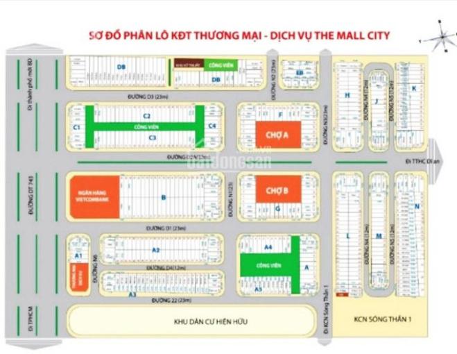 Chính chủ bán lô đất mặt tiền 12m đường N4 Mall City Vincom TC 100% kinh doanh buôn bán ảnh 0