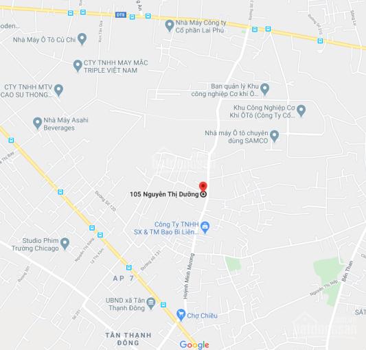 Bán đất mặt tiền đường Nguyễn Thị Dưỡng, Xã Tân Thạnh Đông, Huyện Củ Chi, DT: 10x30m, giá: 3.9tỷ ảnh 0