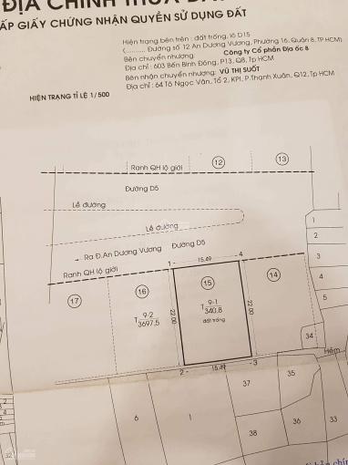 Bán đất biệt thự đường An Dương Vương, phường 16, quận 8, diện tích 340m2, giá 55 triệu/m2 ảnh 0