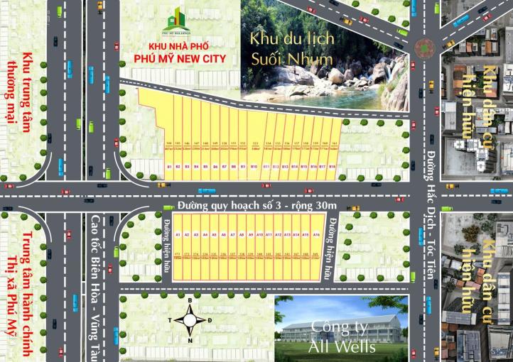 Mở bán 34 nền Phú Mỹ Tóc Tiên mặt đường quy hoạch 30m - đầu tư thông thái