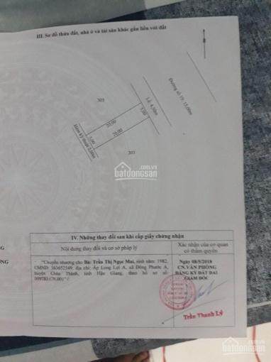 Chính chủ bán gấp đất thổ cư 100m2, KDC TT Cái Tắc, H. Châu Thành A, Hậu Giang