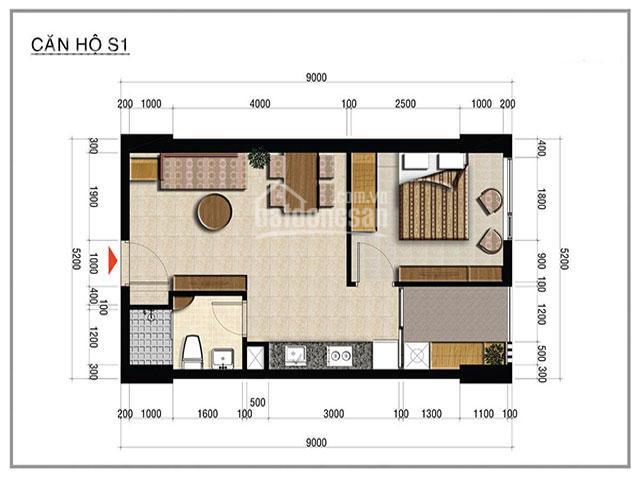 Cần bán căn hộ Officetel Centana Thủ Thiêm, diện tích 44m2, 1PN, 1WC. Giá chỉ 1.85 tỷ bao thuế phí ảnh 0