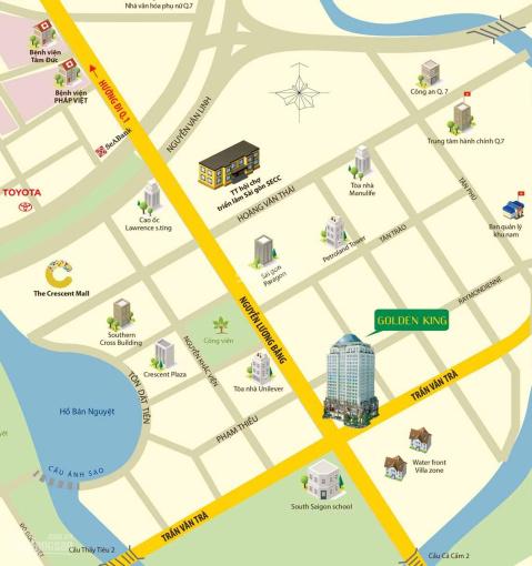 Cho thuê Officetel GoldenKing, làm việc 24/24, 35m2 - 10tr/th, 45m2 - 12tr/th, 60m2 - 16tr/th ảnh 0