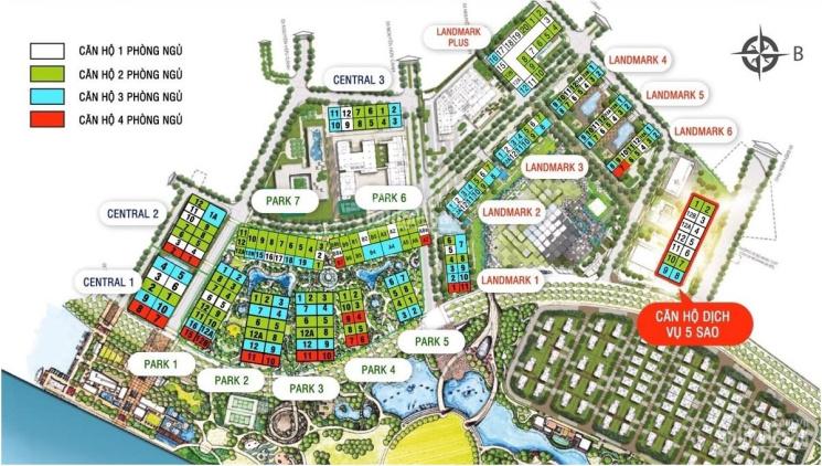 Bán căn hộ 4PN tòa Landmark 6 full nội thất giá 14 tỷ. View nhìn về tòa LM81 và công viên ảnh 0