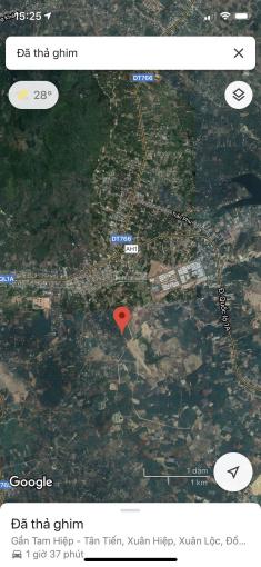 Bán đất mặt tiền vào hồ Gia Măng, Xuân Lộc, Đồng Nai, 1000m2 (10x100m), SHR, KDC, KCN, nghỉ dưỡng ảnh 0