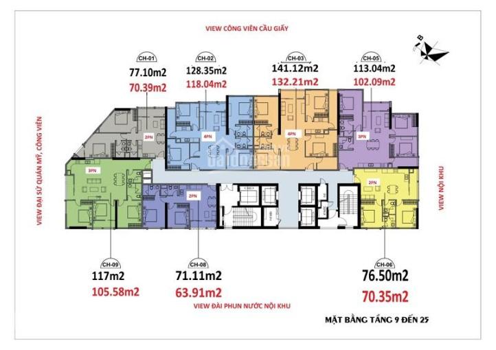 Bán lỗ: 0906.2l7.669 CC Luxury Park View, 1505 (102,9m2) & 1808 (63,9m2) & 1806(70,5m2), 36tr/m2 ảnh 0