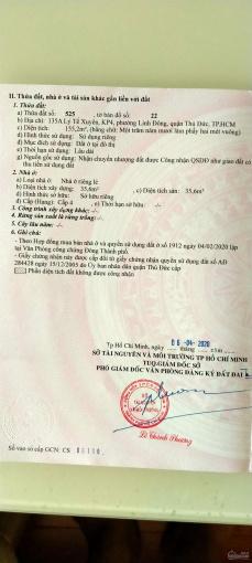 Cần bán gấp nhà MTKD, 155m2 đất DCHH tại 135A Lý Tế Xuyên, Linh Đông, Thủ Đức, 56tr/m2 đất còn TL ảnh 0