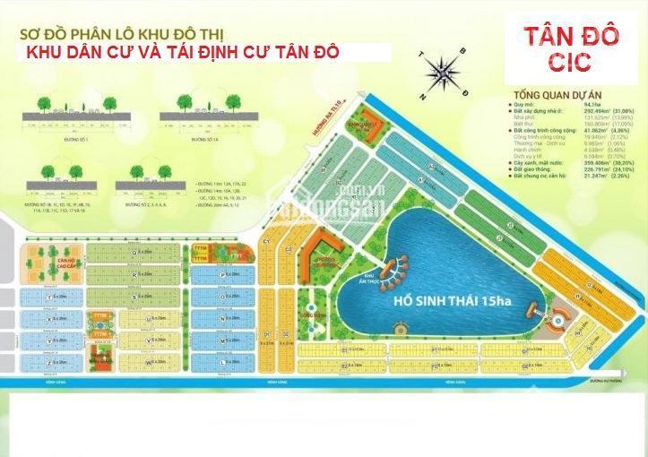 Cần bán nhanh lô đất ngộp 5x26m (130m2) trong KDC Tân Đô, giá 1.5 tỷ. LH: 0938 683 414 ảnh 0