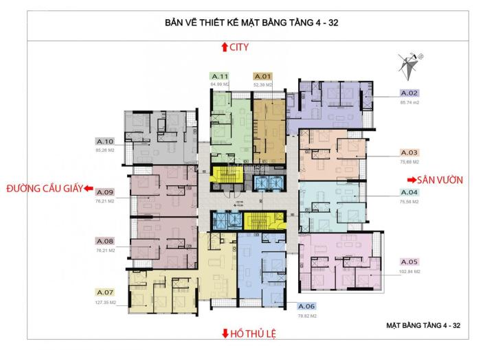 Chính chủ cần bán CC 110 Cầu Giấy căn góc, tầng 1202, DT 85m2, giá bán 35 triệu/m2. LH 0916419028 ảnh 0