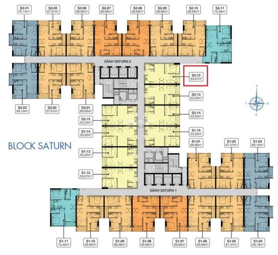 Khả Ngân cần bán S2.15.12 (tầng 15), hướng Đông, 53m2 - Căn hộ Q7 Sài Gòn Riverside - 0933 97 3003 ảnh 0