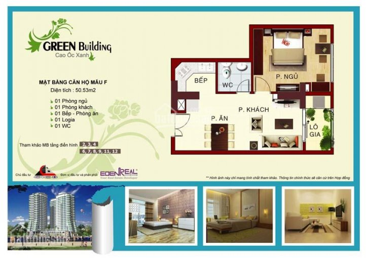Bán chung cư Green Building Quận 9, 50.53 m2 (giá gốc chủ đầu tư) ảnh 0