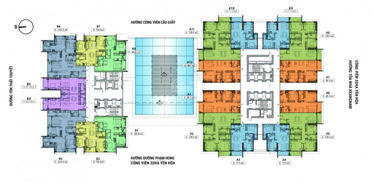Phòng KD trực tiếp CĐT mở bán tầng từ 19 - 30 71.5m2, 86.5m2, 128.6m2 CK thêm từ 9%, tặng NT 300tr ảnh 0