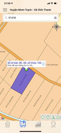 Vĩnh Thanh bán lô đất cây lâu năm làm nhà vườn đường ô tô, 1579m2, giá 2tr/m2, 0903993693 sát chủ ảnh 0