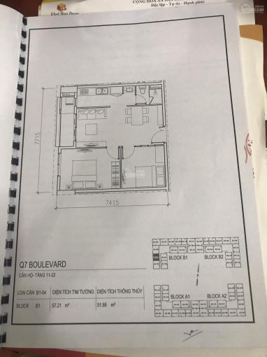 Chính chủ bán căn hộ 2 phòng ngủ mặt tiền Nguyễn Lương Bằng Q7 giá 2tỷ698 - 57m2 - LH 0906987679 ảnh 0