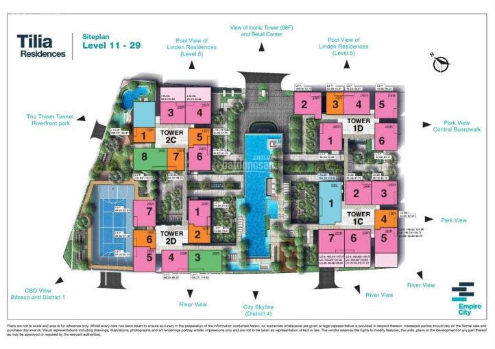 Bán gấp - Duy nhất căn hộ Tilia Empire City 98m2 2PN view phố đi bộ cực thoáng mát chênh lệch thấp ảnh 0