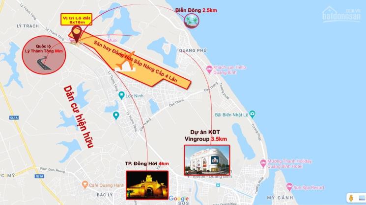 3 phút đến cổng sân bay Đồng Hới, Quảng Bình 8x18m góc 2MT mà chỉ 630tr ảnh 0