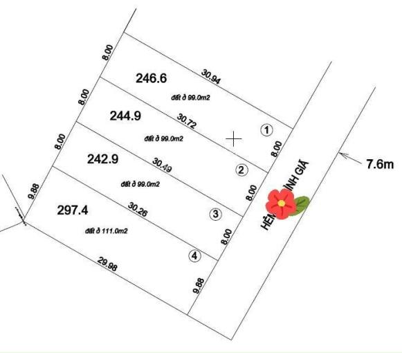 Cần bán đất phân lô Bình Giã, phường 8, DT 240m2, giá 55 tr/m2 ảnh 0
