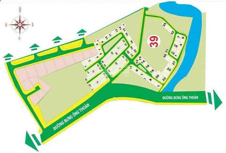 Cần bán lô đất biệt thự, dự án Thời Báo Kinh Tế Sài Gòn Quận 9, bán lô E, DT 15x20m ảnh 0